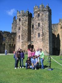 A group outing to Alnwick Castle
